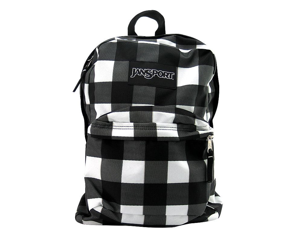 Jansport Buffalo Chex Backpack - Black/White (With images
