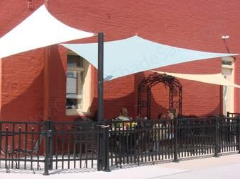 Outdoor Restaurant Patio Deck Sail Shades