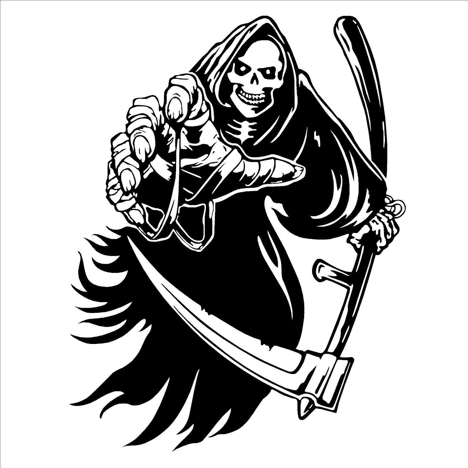 The Grim Reaper Death Skeleton Vinyl Wall Art Room Sticker