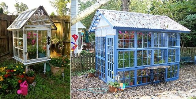 1ddbc63a9c3e 10 Greenhouses Made From Old Windows and Doors | Going outdoors