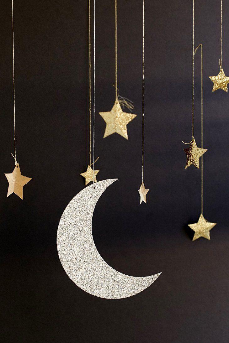Meri Meri Moon And Star Hanging Decorations  Moon decor, Handmade