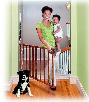Babies R Us Deluxe Wood Stairway Gate - Babies R Us ...