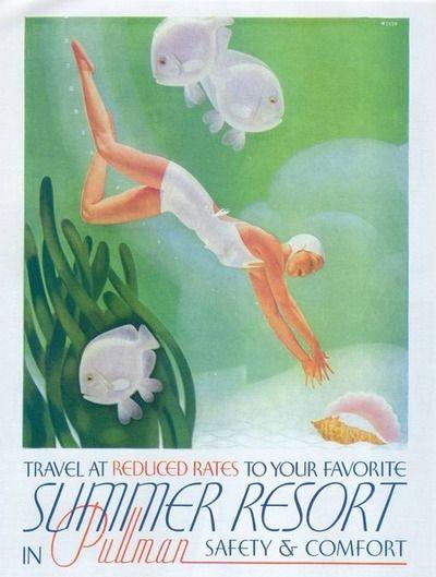 allthingsartdeco:  Ad for Pullman Railway Co., 1937  (viaGatochy)