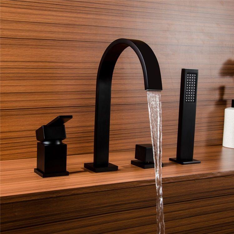 浴槽水栓 バス蛇口 シャワー混合栓 浴室蛇口 ハンドシャワー付 水道