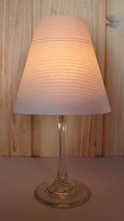 diy ganz einfach schnell lampenschirme f r weingl ser basteln kerzen kann man nicht genug. Black Bedroom Furniture Sets. Home Design Ideas