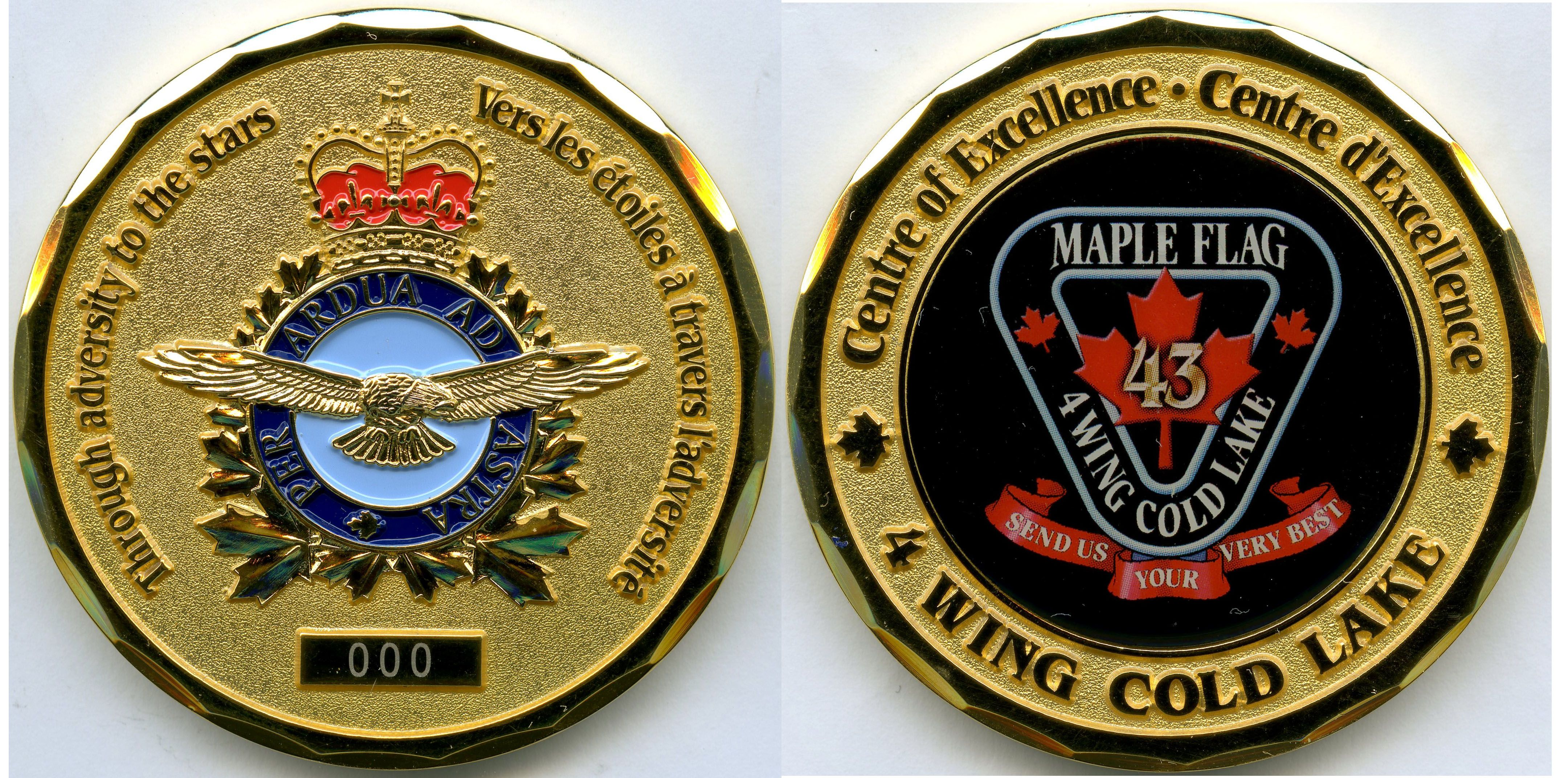 RCAF 4 Wing Cold Lake Maple Flag 43 Challenge Coin