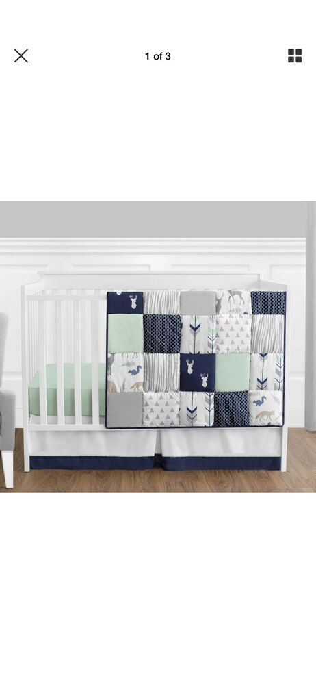 Dwell Studio Safari Skies Animal//Jungle 3 Piece Crib Bedding Set Baby Infant