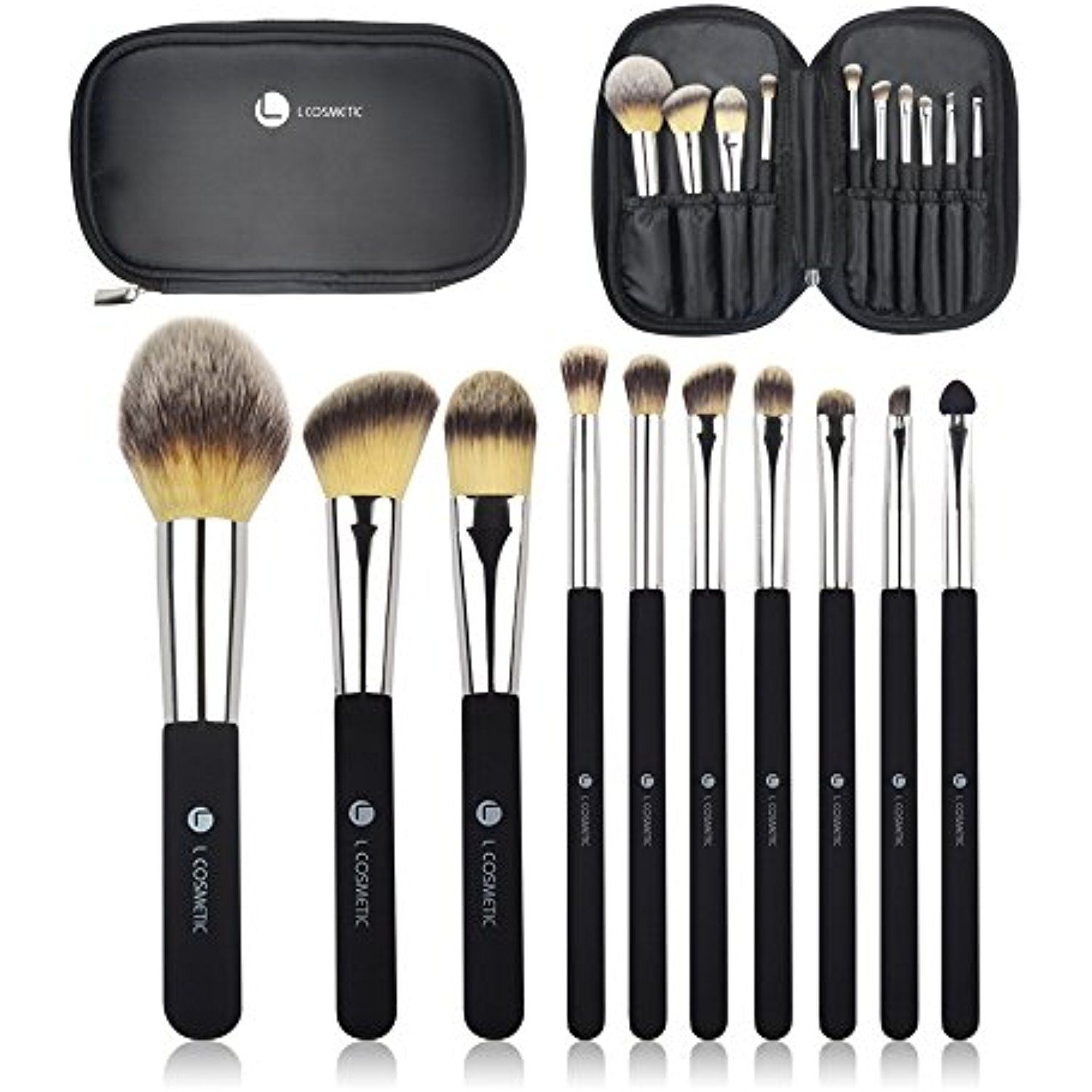 c5425d87d377 L COSMETIC(TM) 10 Piece Makeup Brushes Set Professional Eyeshadow ...