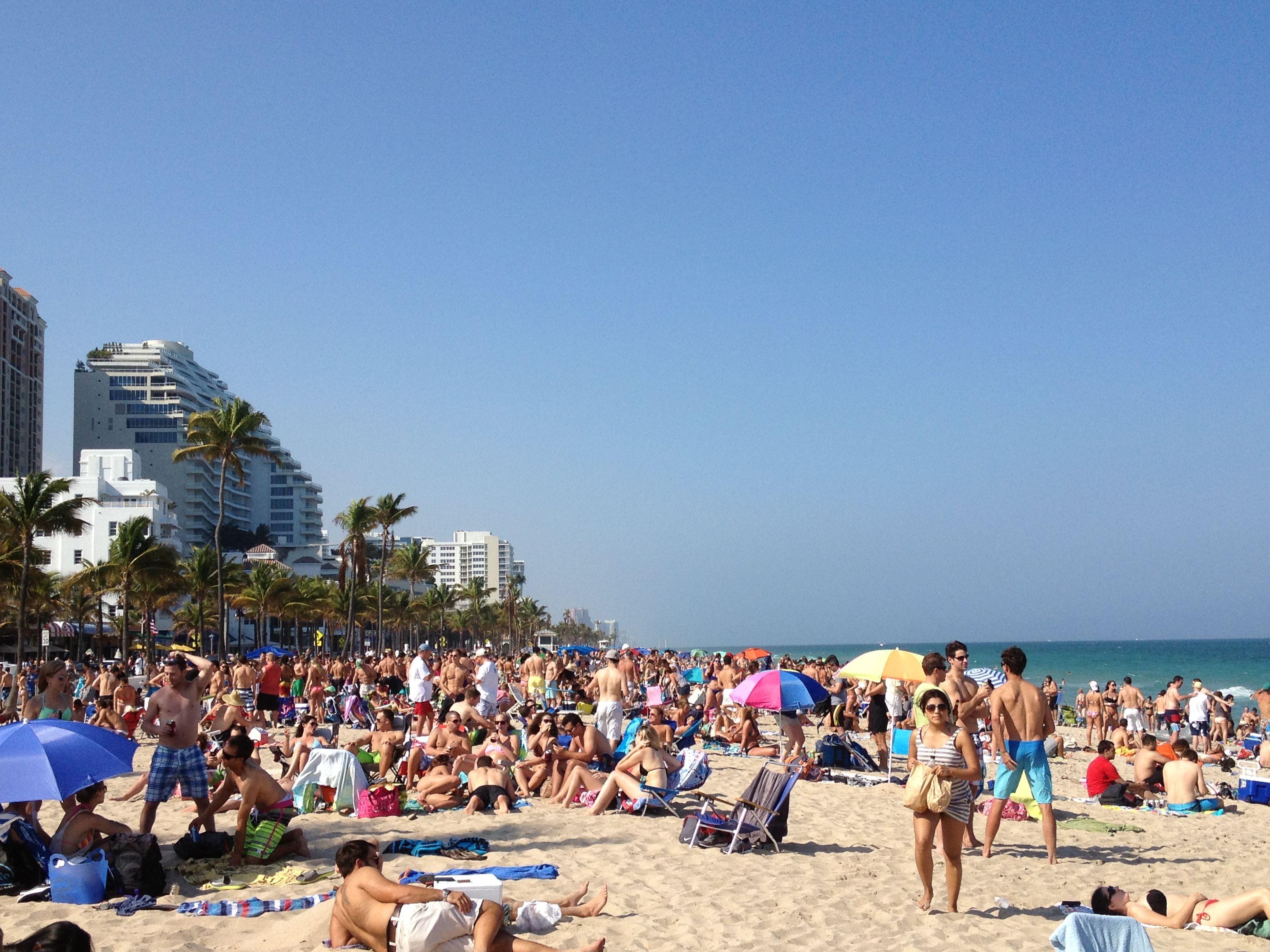 Fort Lauderdale Beach Over Spring Break Florida Spring Break Florida Fort Lauderdale Beach Lauderdale Beach