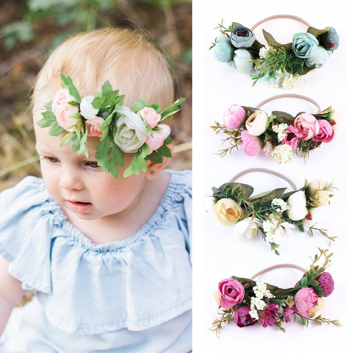 Fashion Kids Toddler Cute Leaf Flower Headband Elastic Hair Band Baby Headwear