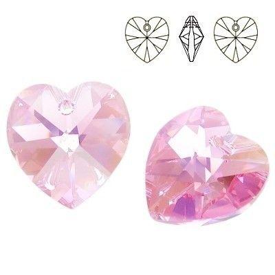 6228 Swarovski® Pendant Xilion Heart Light Rose