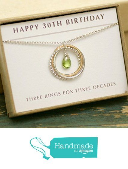 30th Birthday Gift Peridot Necklace For Her August Birthstone Jewelry Daughter