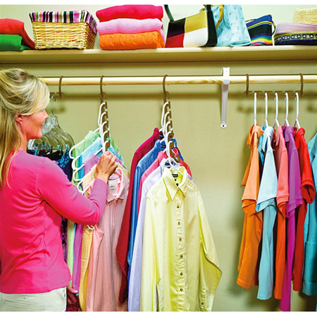 8pcs Wonder Closet Organizer Space Saver Magic Hanger Clothing Rack Clothes Hook