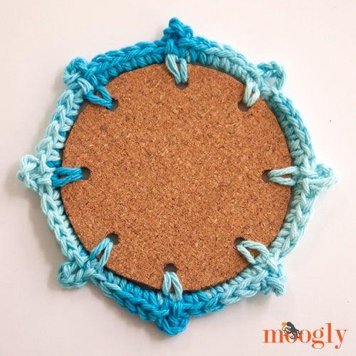 Nautical Crochet Coasters! Four fun, easy, free crochet patterns from Mooglyblog.com
