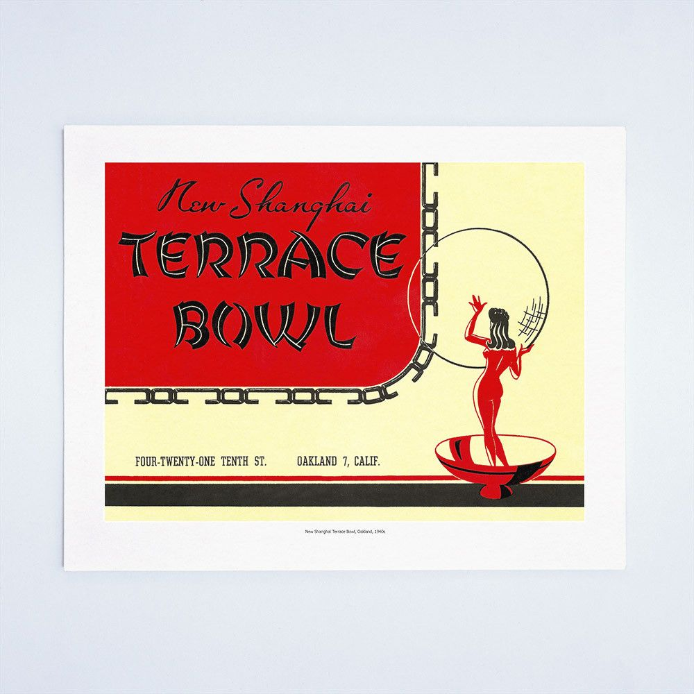 New Shanghai Terrace Bowl, Oakland 1940s | Vintage menu and Shanghai