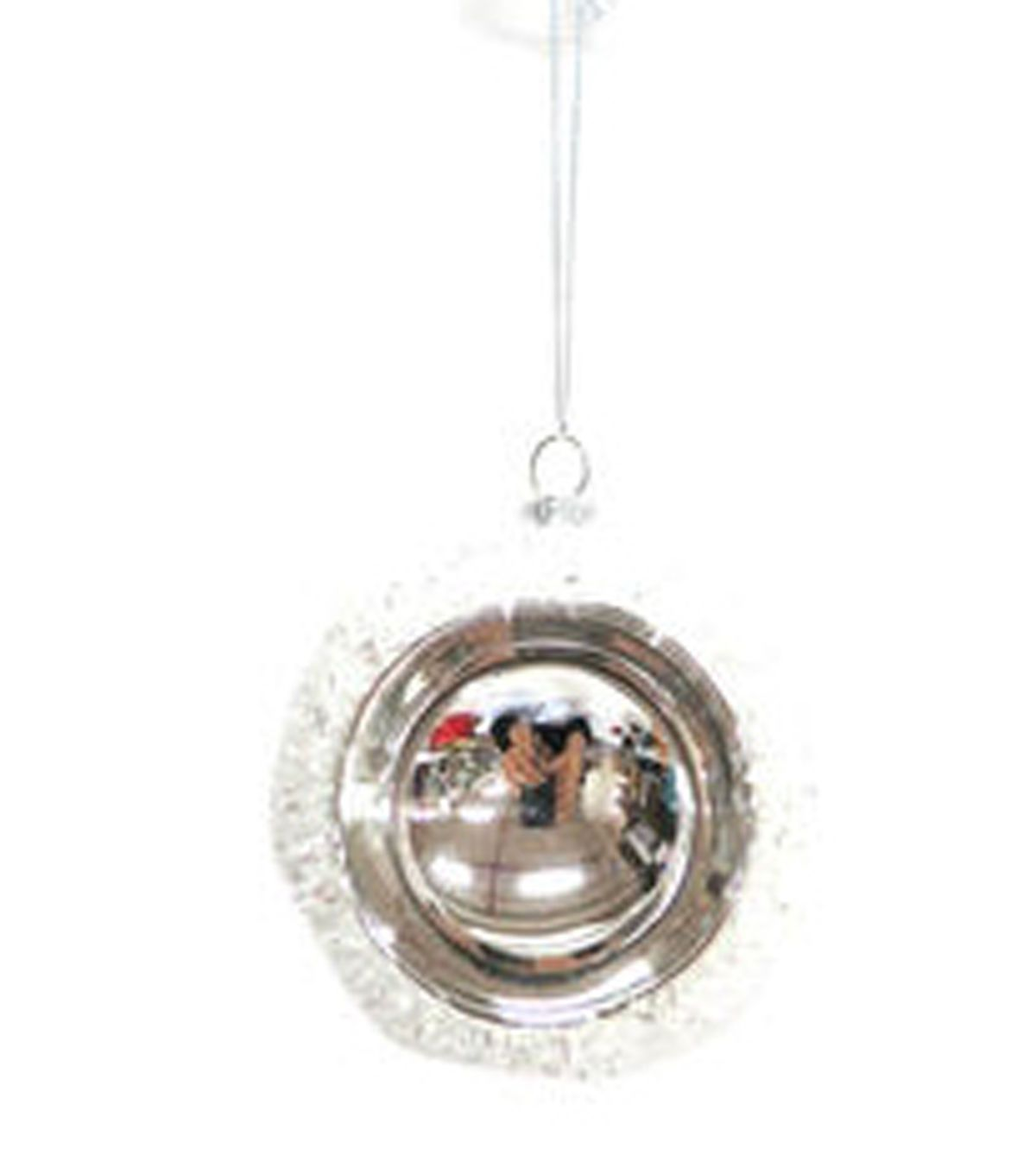Holiday Cheer Silver And White Vintage Ornament