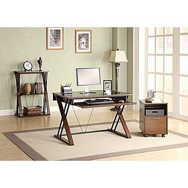 Whalen Astoria Computer Desk Brown, Whalen Office Furniture