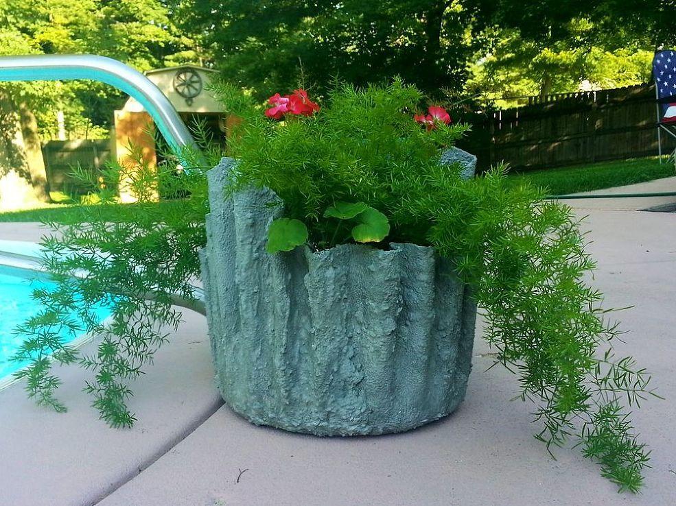 How to Make Cement Draped Planters Macetas, Para el hogar y Plantas - maceteros para jardin