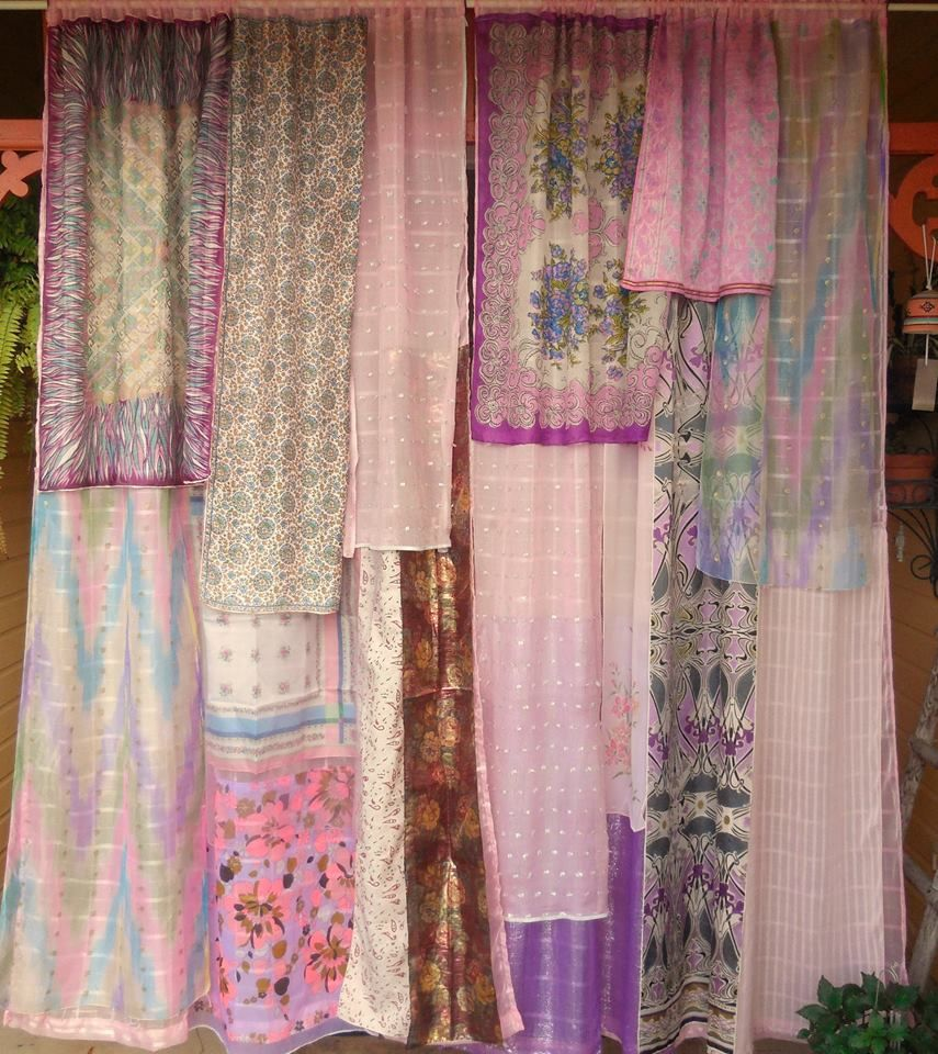 In Your Dreams - Gypsy Curtains made from scarves ~ BabylonSisters (etsy)  pic only