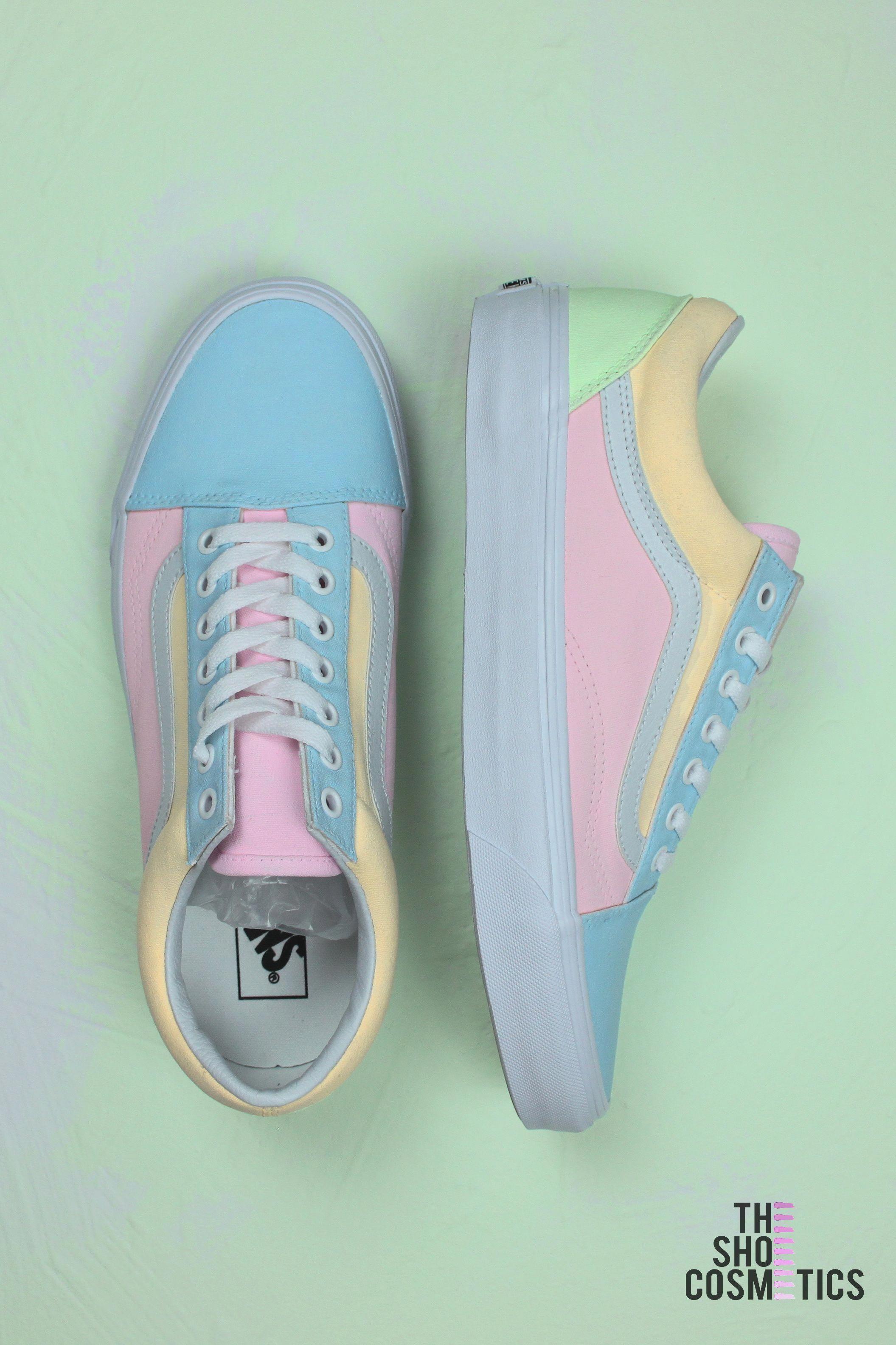 chaussures vans couleur pastel