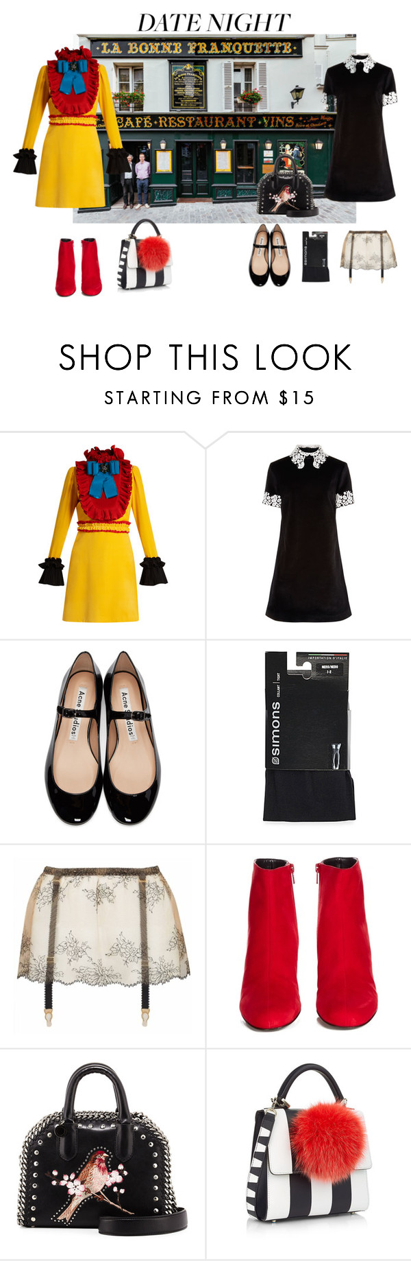 """""""DATE NIGHT"""" by susibonvi ❤ liked on Polyvore featuring Gucci, macgraw, Acne Studios, Edge o' Beyond, Yves Saint Laurent, STELLA McCARTNEY and Les Petits Joueurs"""