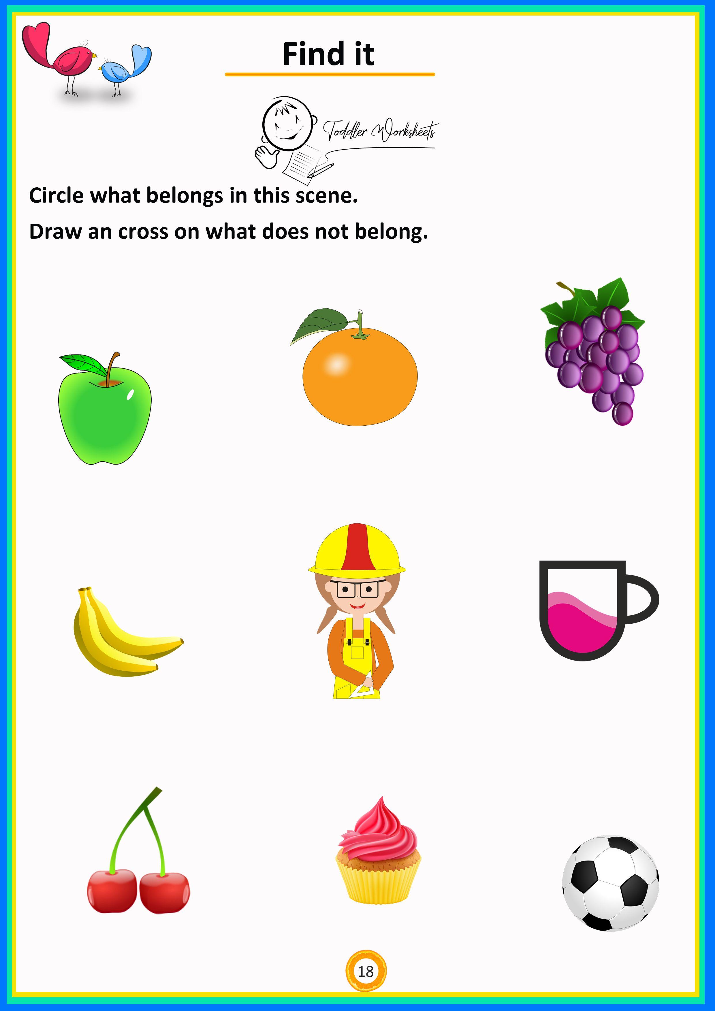 Circle The One Belongs Preschool Math Simple Math