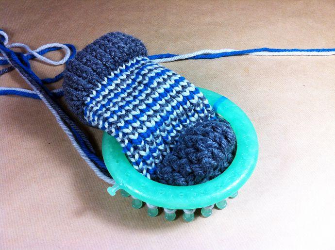 Tutorial cómo tejer calcetines en telar circular loom knitting socks ...