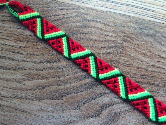 Friendship Bracelet woven.Friendship jewelry.Birthday bracelet.Girls little bracelet Woven Braided Best friend present.Fruit.Neon.Watermelon #friendshipbracelets