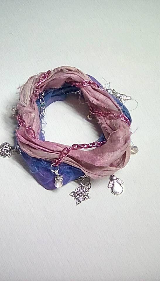 Sari Silk Yarn Bracelet