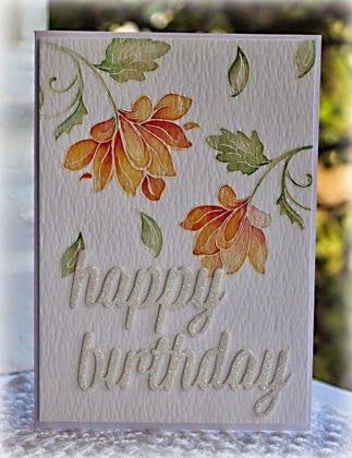 Watercolour Floral Birthday Card Using The Altenew Persian Motifs
