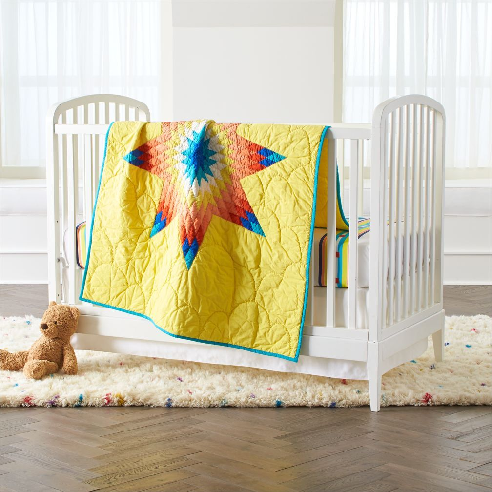B. Yellowtail Yellow Crib Bedding The Land of Nod