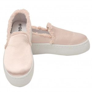 6a499f679bae0d Weeboo Adult Blush Pink Laceless Raw Edge Slip-On Fashion Sneakers 6-10  Women