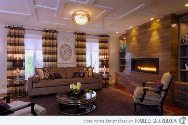15 Warm Craftsman Living Room Designs  Craftsman Living Rooms Inspiration Wood Design Living Room Decorating Design