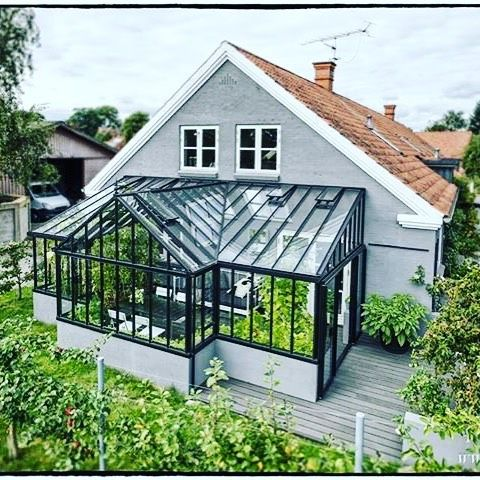 The dream a 4 season conservatory attached to the house for House plans with greenhouse attached