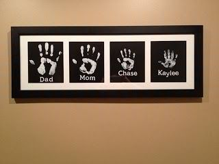 Family Hand Print Wall Art Family Hand Prints Handprint Artwork Family Crafts