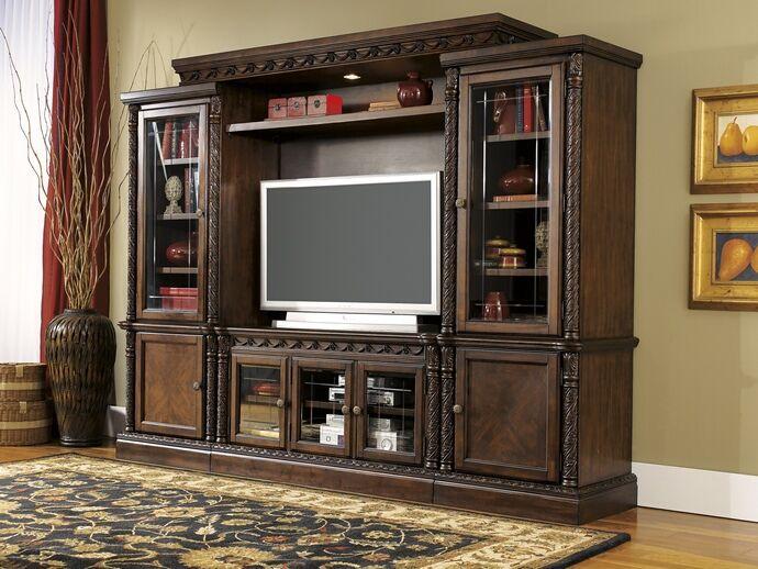 Ashley Furniture W553 31 33 34 35 4 Pc North Shore Collection Dark
