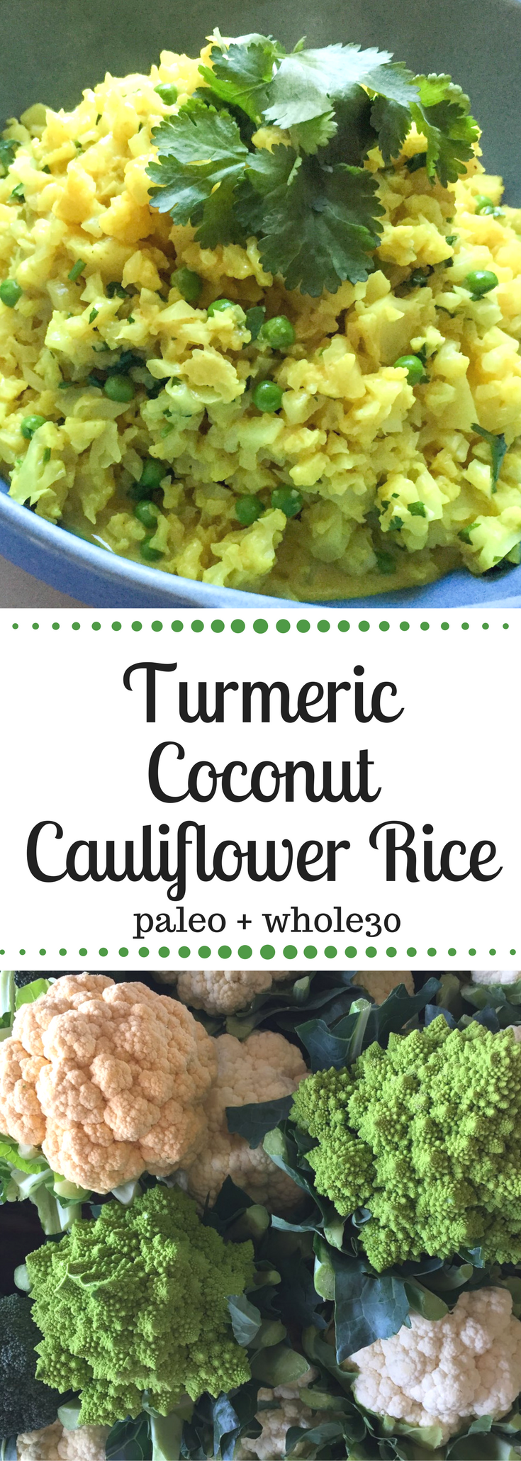 Turmeric Coconut Cauliflower Rice | Coconut cauliflower ...