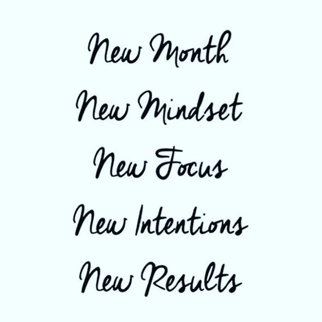 New Month – New Mindset – New Focus – New Intentions – New Results.  What are your fitness goals this month and how do you plan on