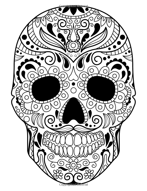 Sugar Skulls - Day of the Dead: A Stress Management Coloring ...