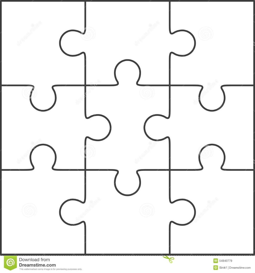 Photo About Jigsaw Puzzle Blank Simple Template 3x3 Within Jigsaw Puzzle Template For Word Puzzle Piece Template Jigsaw Puzzle Crafts Free Jigsaw Puzzles