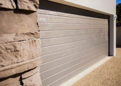 Colorbond® Garage Door - Slimline profile Gully colour & Colorbond® Garage Door - Slimline profile Gully colour | Bunton ...