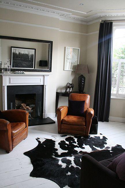 Interior Design Of Living Room Extraordinary Putney Villasitting Roomliving Roomdrawing Roomleather Decorating Design