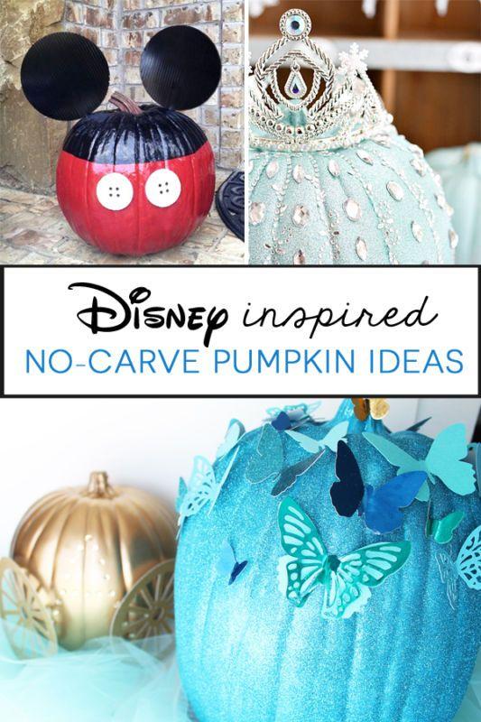 how to disney no carve pumpkins halloween halloween pumpkin rh pinterest com  disney character pumpkin decorating ideas