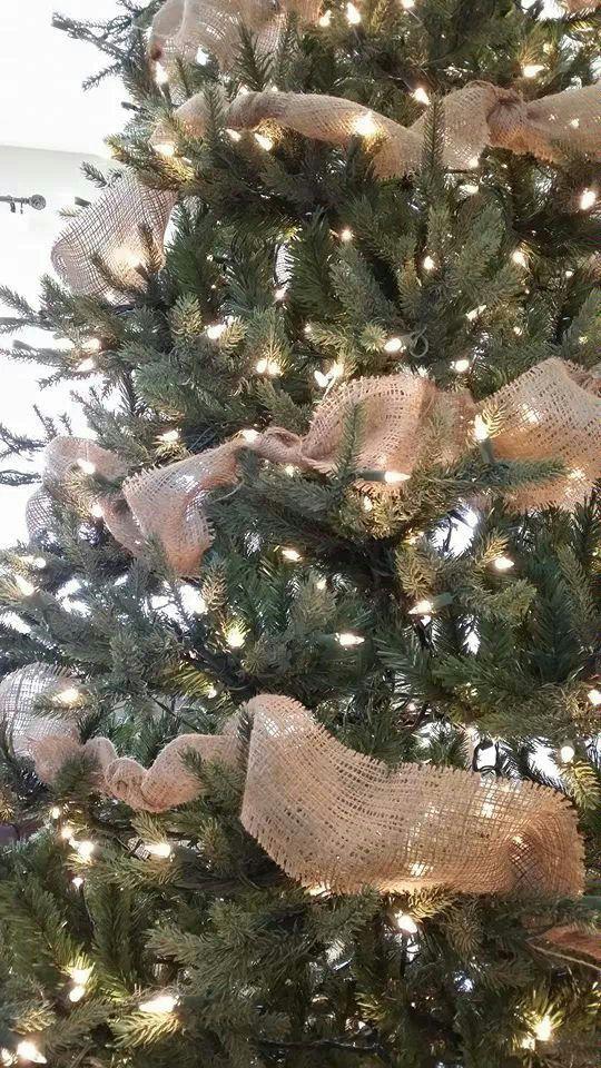 Rustic Christmas Hey Jess Burlap Tree Garland Christmas Tree