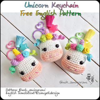 Llavero de unicornio de crochet, unicornio de crochet, amigurumi ... | 320x320