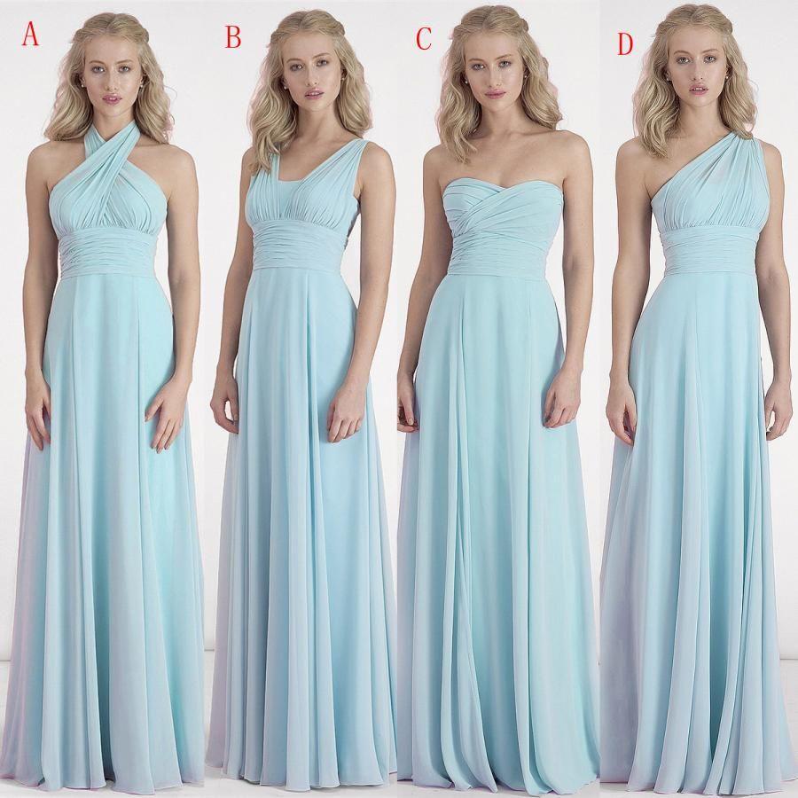 Elegant simple mint green chiffon bridesmaid dressespleat a elegant simple mint green chiffon bridesmaid dressespleat a ombrellifo Images
