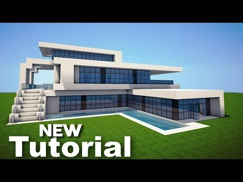 Minecraft How To Build A Modern House Best Mansion Tutorial 2016 Minecraft Modern House Blueprints Minecraft Modern Easy Minecraft Houses