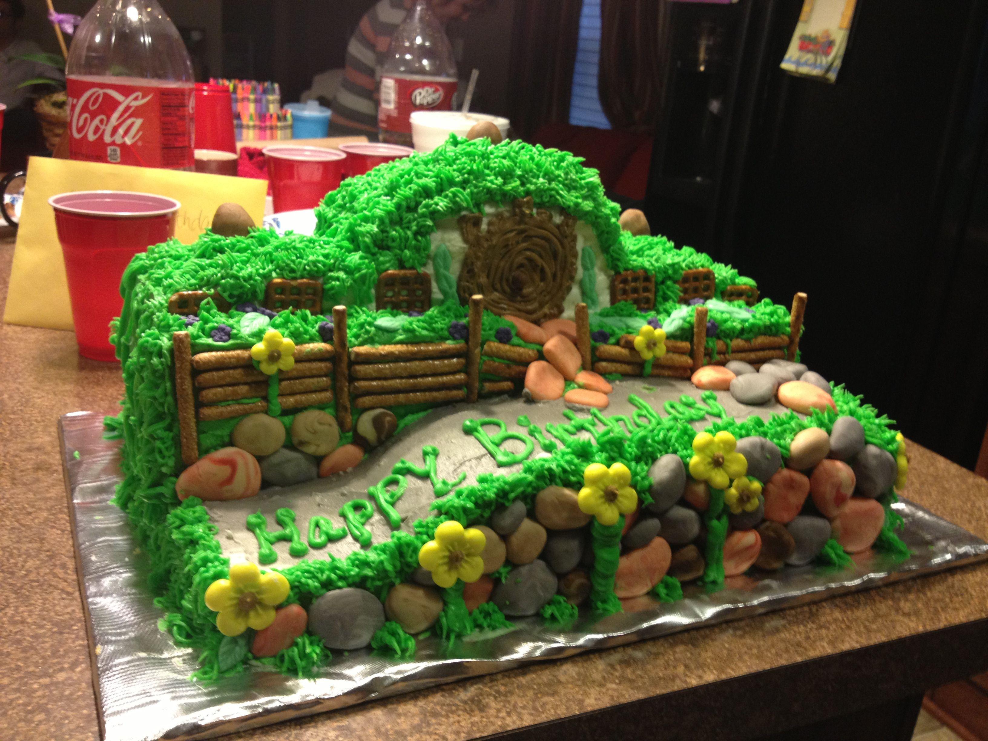 The Hobbit cake for my son's 15 birthday!   Hobbit cake ...