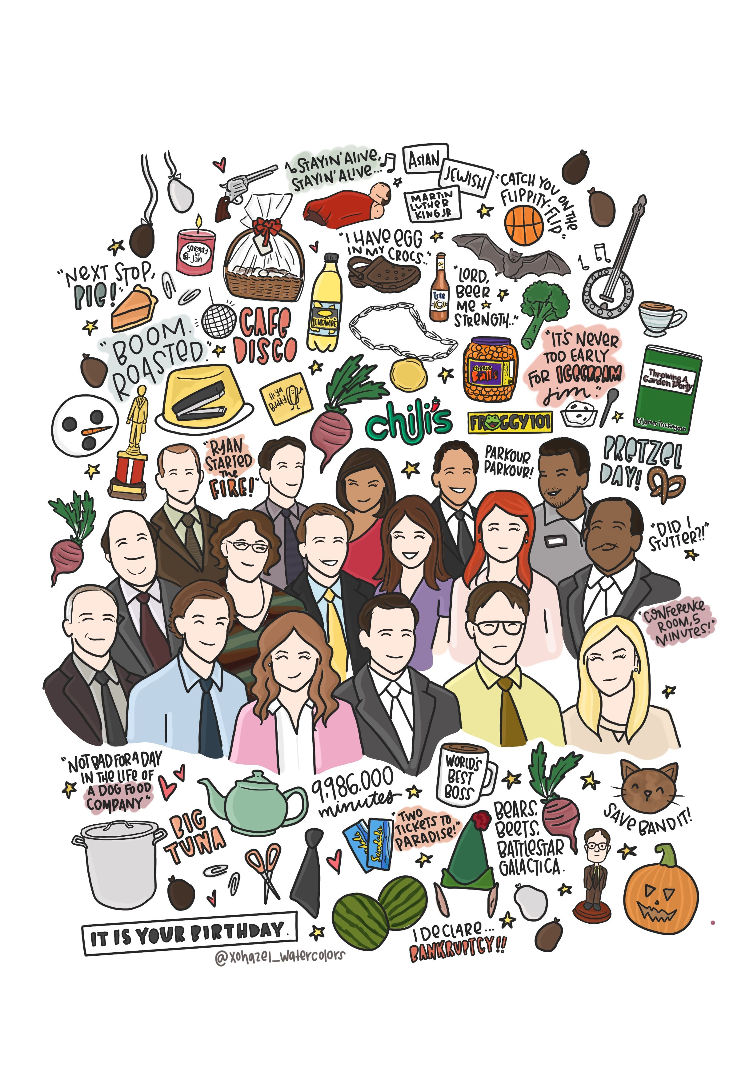 The Office Doodles Office Wallpaper The Office Show Office