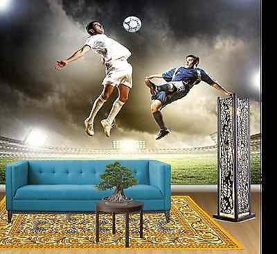 TWO FOOTBALL PLAYERS AT STADIUM Wall Mural Photo Wallpaper FREE ADHESIVE Part 52